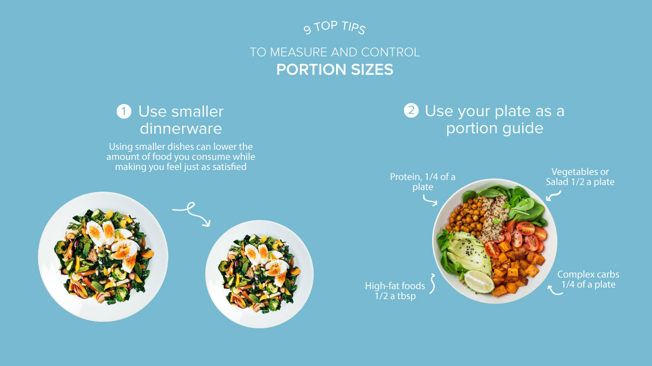 how to diet by eating smaller portions