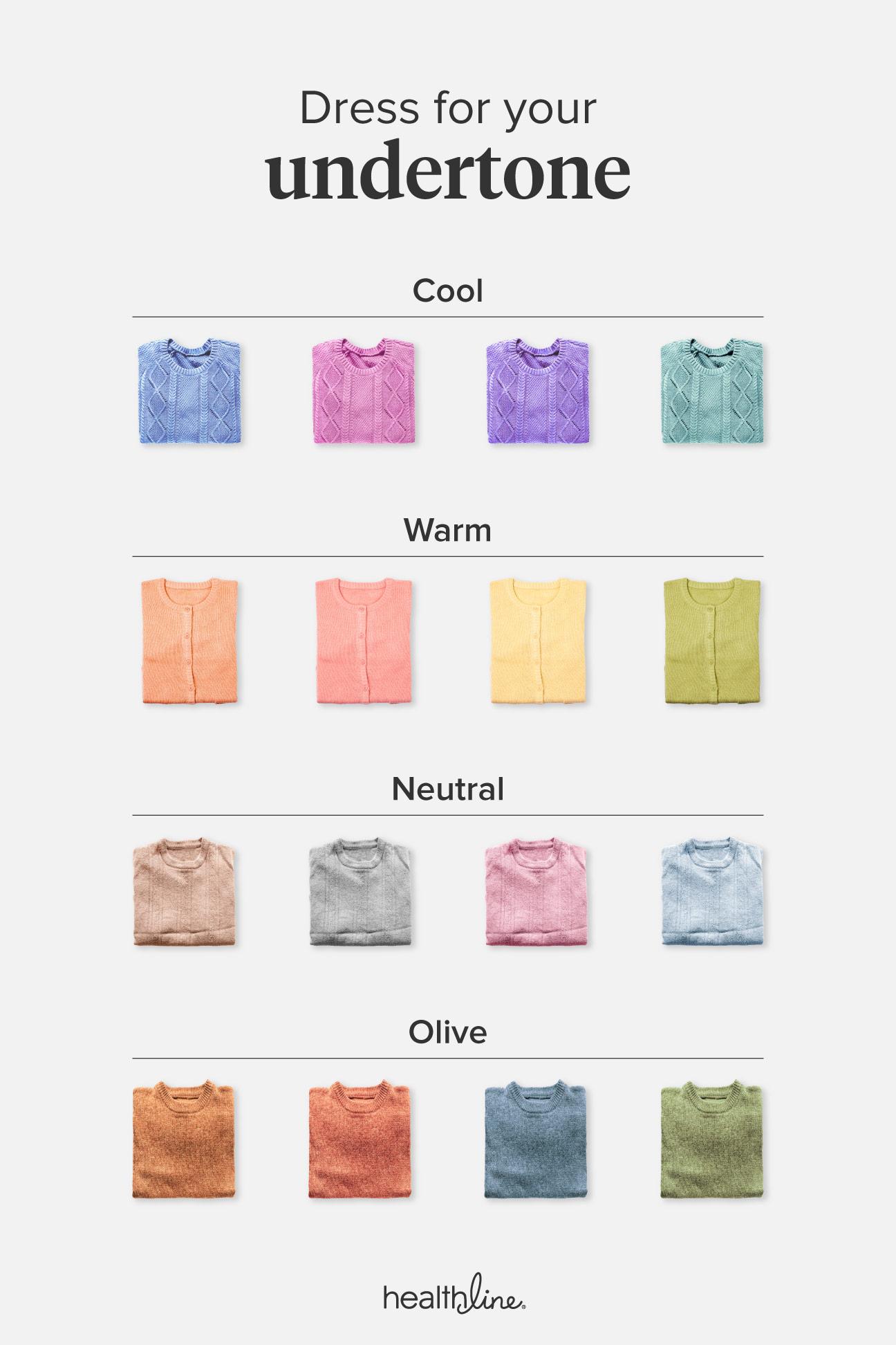 Skin Undertones Chart Warm Cool