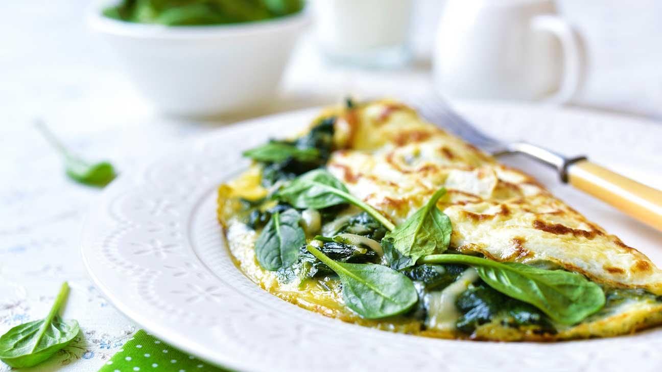 Cheese & Spinach Omelet