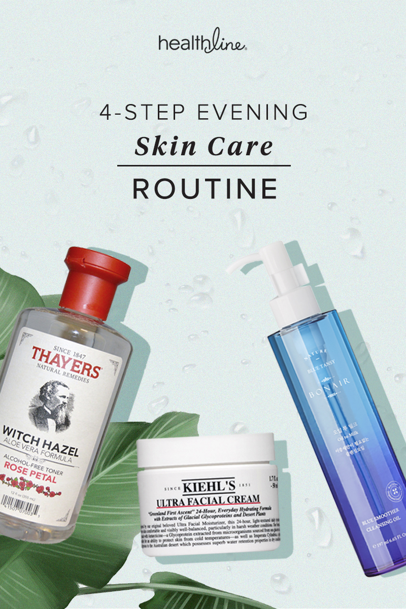 try this 4-step nighttime skin care routine for clear skin