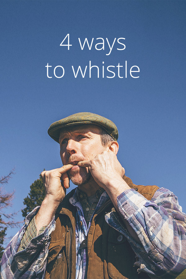 How To Whistle 4 Ways