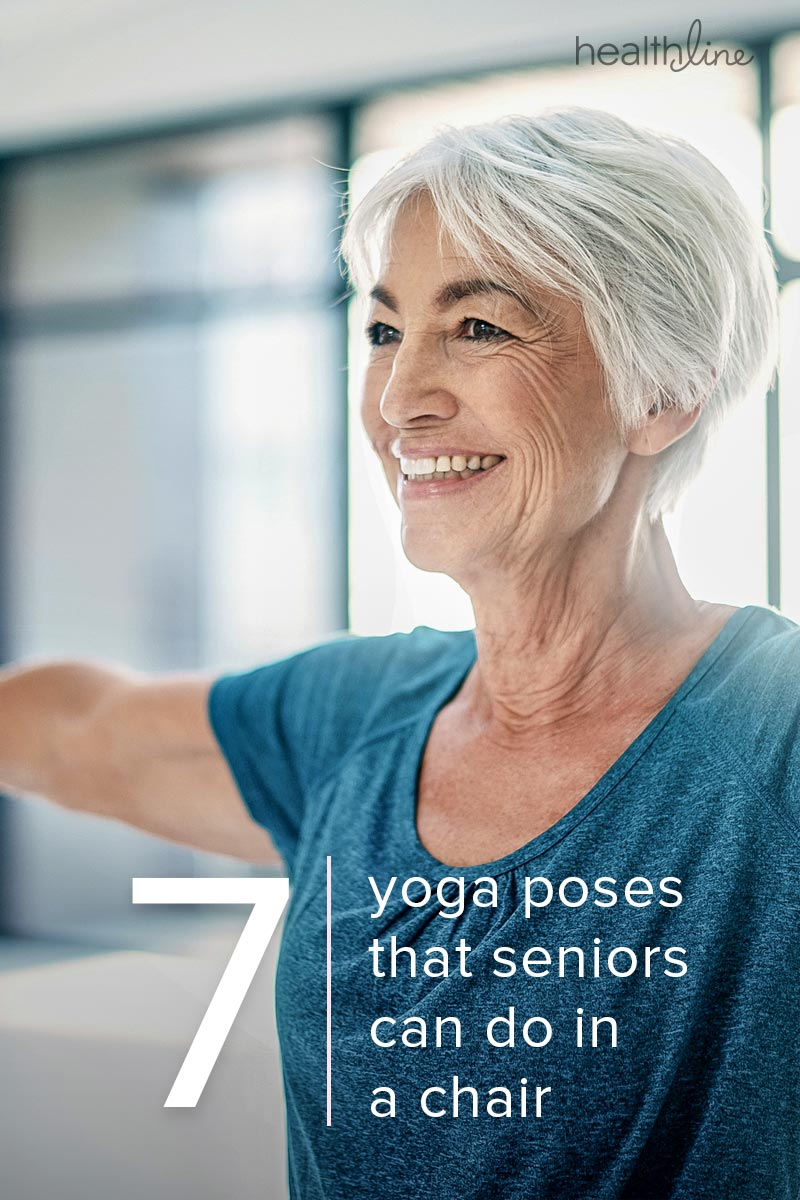 image relating to Chair Yoga for Seniors Printable titled Chair Yoga for Seniors: Seated Poses