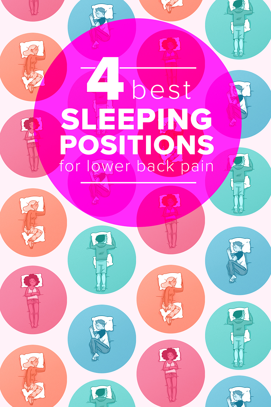 Best sleeping position for lower back period pain