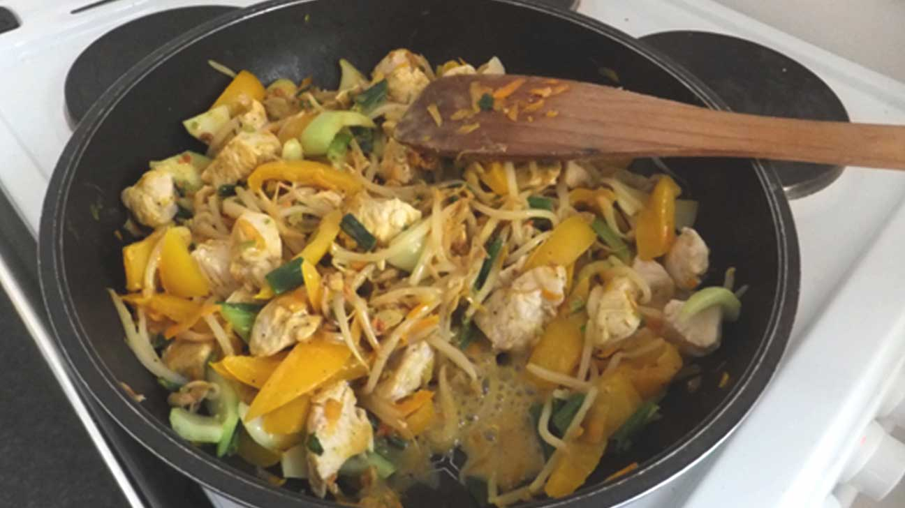 Ibs friendly recipes low fodmap foods 16 chicken satay stir fry with rice noodles forumfinder Image collections