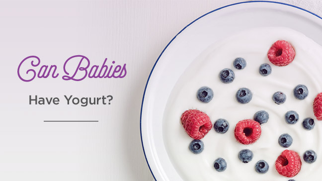 babies and yogurt