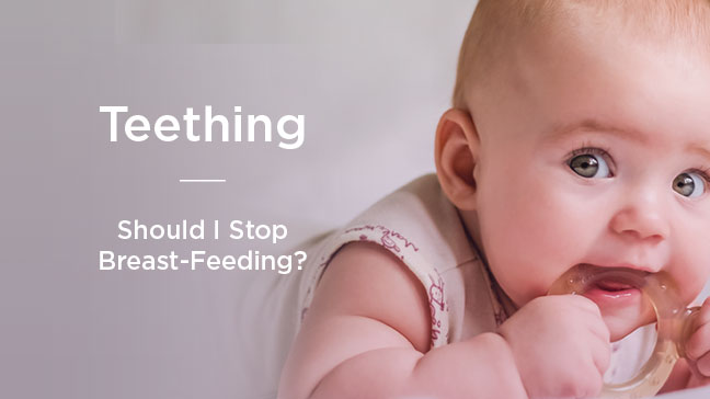breastfeeding while teething