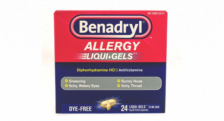 Sedating antihistamine tablets