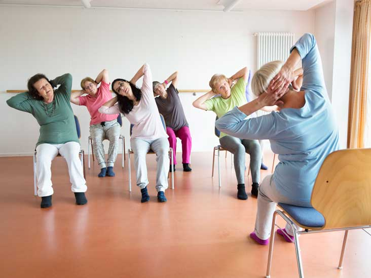 image relating to Chair Yoga for Seniors Printable named Chair Yoga for Seniors: Seated Poses